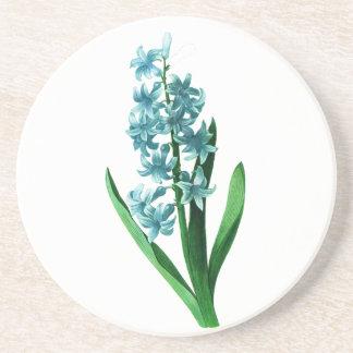Blue Hyacinth by Pierre Joseph Redoute Sandstone Coaster