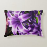 Blue Hyacinth I Spring Floral Accent Pillow