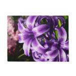 Blue Hyacinth I Spring Floral Doormat