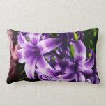 Blue Hyacinth I Spring Floral Lumbar Pillow