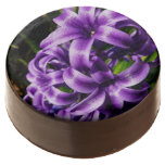 Blue Hyacinth II Spring Floral Chocolate Dipped Oreo