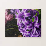 Blue Hyacinth II Spring Floral Jigsaw Puzzle