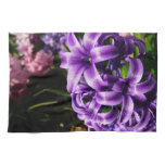 Blue Hyacinth II Spring Floral Kitchen Towel
