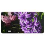 Blue Hyacinth II Spring Floral License Plate