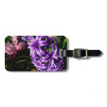 Blue Hyacinth II Spring Floral Luggage Tag