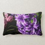 Blue Hyacinth II Spring Floral Lumbar Pillow
