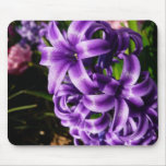Blue Hyacinth II Spring Floral Mouse Pad