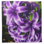 Blue Hyacinth II Spring Floral Napkin