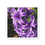 Blue Hyacinth II Spring Floral Paper Napkin