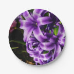 Blue Hyacinth II Spring Floral Paper Plate