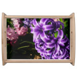 Blue Hyacinth II Spring Floral Serving Tray