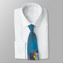 Blue Hyacinth Macaw Parrot Bird Wildlife Tie