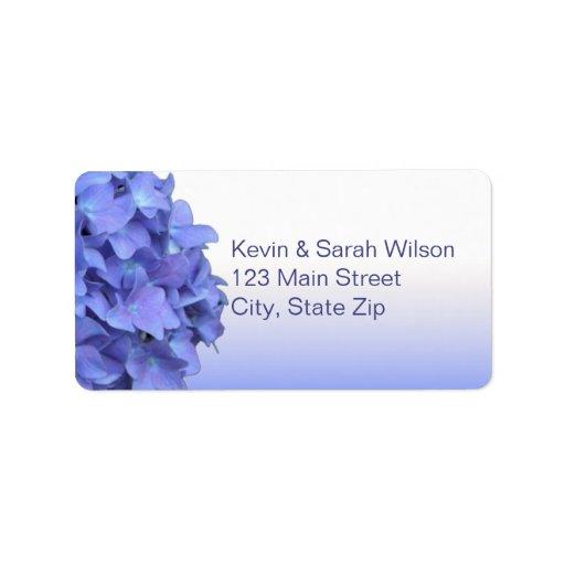 Blue Hydrangea Address Labels