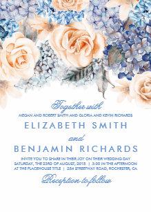 hydrangea wedding invitations zazzle