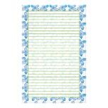 Blue Hydrangea Blossom Stationery Paper Watercolor