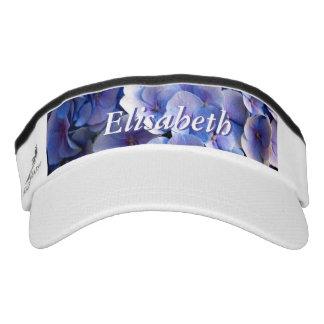 Blue Hydrangea Blossoms Customizable Visor