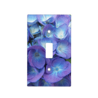 Blue Hydrangea Blossoms Floral Light Switch Cover