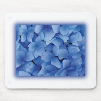 Blue Hydrangea Blossoms Mouse Pad