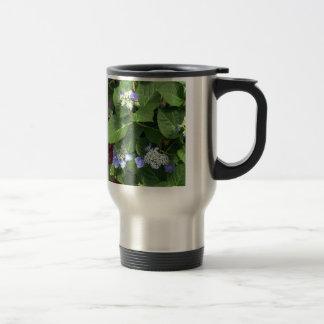 Blue Hydrangea Blossoms Travel Mug