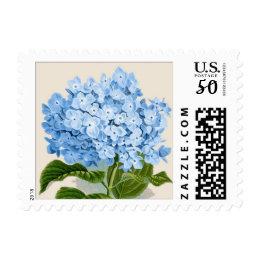 Blue Hydrangea Botanical Print Postage