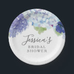 "Blue Hydrangea Bridal Shower  Party Plates<br><div class=""desc"">Check out our Blue Hydrangea Collection for more matching items!