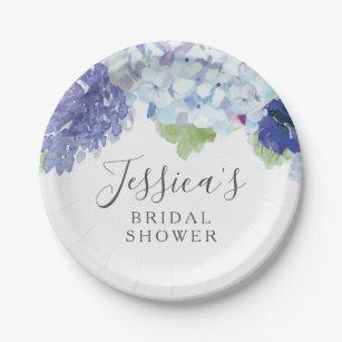 Blue Hydrangea Bridal Shower Party Plates  sc 1 st  Zazzle & Hydrangea Plates | Zazzle
