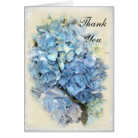 Blue Hydrangea Bridesmaid Thank You Note Card