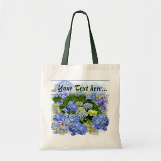 BLUE HYDRANGEA  ~ Budget Tote Bags