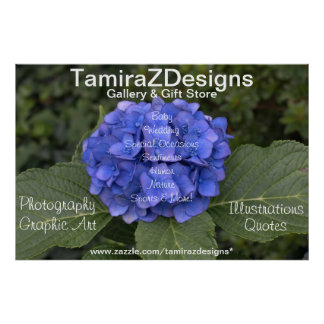 Blue Hydrangea Business POSTER Banner