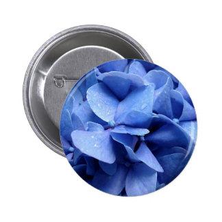 Blue Hydrangea button/badge Pinback Button