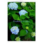 Blue Hydrangea Christian Birthday Card
