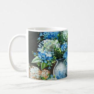 Blue Hydrangea Design Coffee Mug