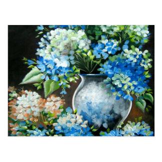 Blue Hydrangea Design Postcard
