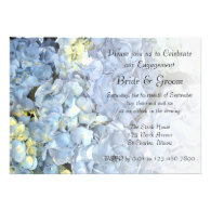 Blue Hydrangea Engagement Party Invitation
