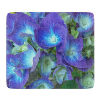 Blue Hydrangea Floral Cutting Board