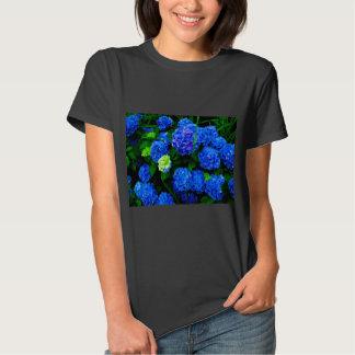 Blue Hydrangea Floral T-Shirt