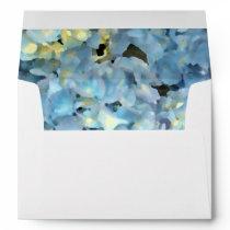Blue Hydrangea Floral Wedding Envelope