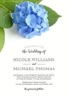 Blue Hydrangea Fl Wedding Invitations