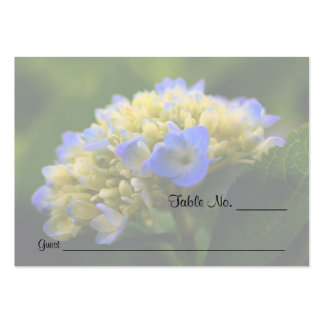 Blue Hydrangea Floral Wedding Table Place Cards Large Business Cards (Pack Of 100)