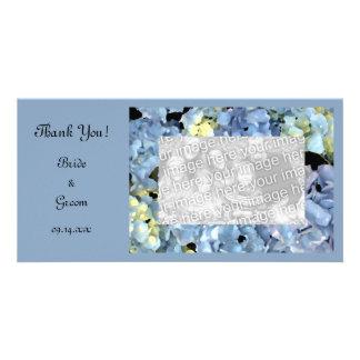Blue Hydrangea Floral Wedding Thank You Card