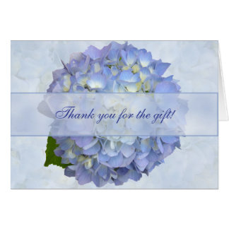 Blue Hydrangea Flower Blank Thank You Gift Card Note Card