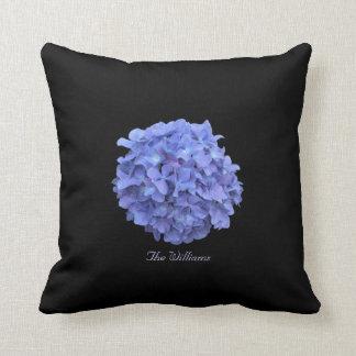 Blue Hydrangea Flower Blossom Pillow