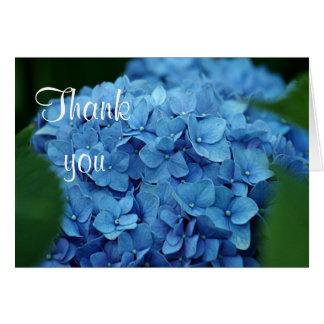 Blue hydrangea flower greeting card