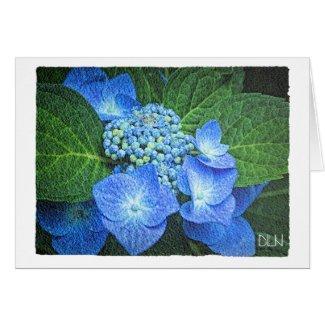 Blue Hydrangea Flower/Floral /Watercolor Look