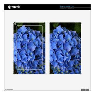 Blue hydrangea flower in bloom 2 kindle fire decals