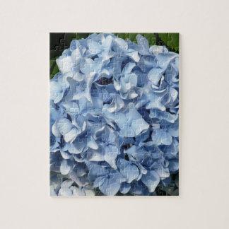 Blue Hydrangea Flower Jigsaw Puzzles