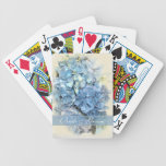 Blue Hydrangea Flower Wedding Playing Cards