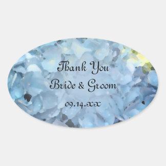 Blue Hydrangea Flower Wedding Thank You Favor Tags