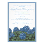 Blue Hydrangea Flowers Bridal Shower Invitation