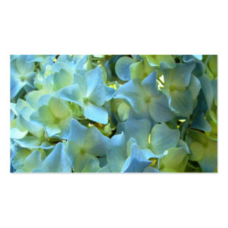 Blue Hydrangea Flowers Business Profile Cards Double-Sided Standard Business Cards (Pack Of 100)